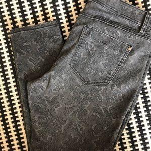 Elle Black/Grey Lace Patterned Jean